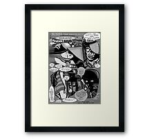Bird of Steel Comix – #8 of 8  - (Red Bubble POP-ART COLLECTION SERIES) Framed Print