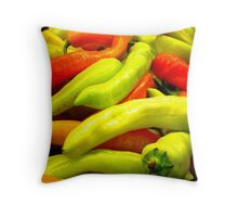 Mixed Peppers at Fruit Shop Throw Pillow