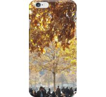 Autumn Colors, 9/11 Memorial and Park, Lower Manhattan, New York City iPhone Case/Skin