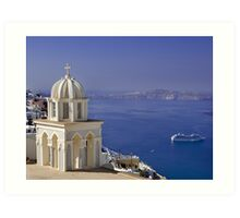 Santorini View Art Print