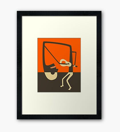 THE BLUES GUITAR  Framed Print