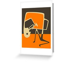 THE BLUES HORN Greeting Card