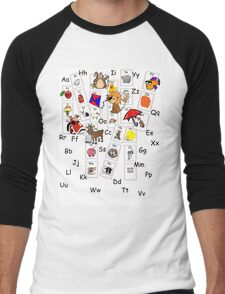 Alphabet Tee Men's Baseball ¾ T-Shirt