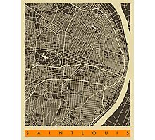 SAINT LOUIS MAP Photographic Print