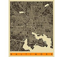 BALTIMORE MAP Photographic Print