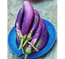 More Aubergine Photographic Print