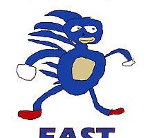 Sanic - Gotta go fast by LotsOfLowe