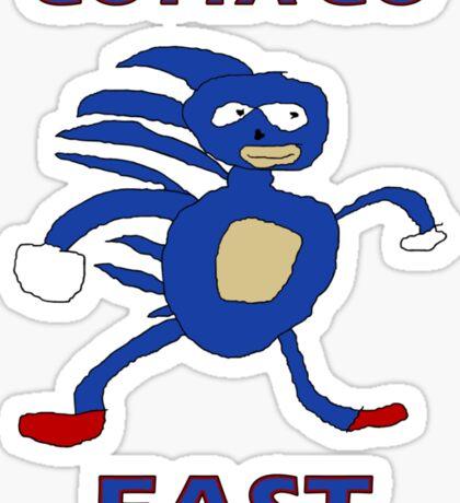 Sanic - Gotta go fast Sticker