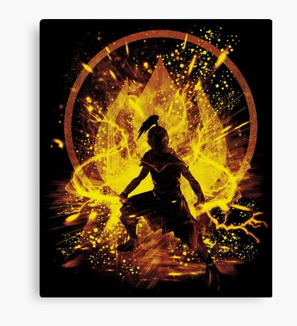 fire prince Canvas Print
