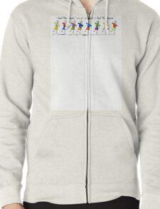 KidsArt for Kids- I feel like dancing Zipped Hoodie