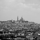 Sacre Coeur looking over Paris by Andrew Wilson