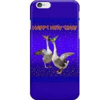 HAPPY NEW YEAR - Celebrating Geese iPhone Case/Skin