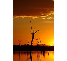 Sunrise Gold, Lake Fyans Grampians  Photographic Print