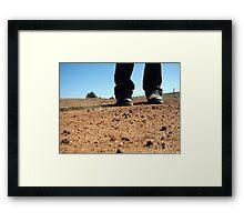 dry earth Framed Print