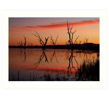 Lake Fyans Grampians Art Print