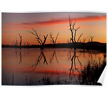 Lake Fyans Grampians Poster
