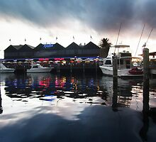 Fremantle Harbour After Dark by Simon Boyd