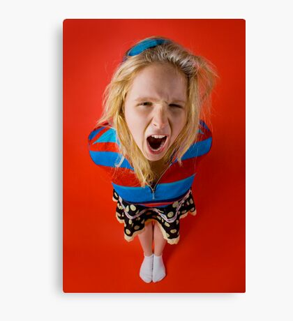 Angry Kid (Emily) Canvas Print