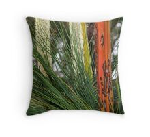 Grass Trees, Brisabane Ranges Throw Pillow