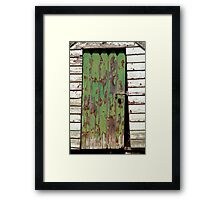 Out House, Dunny Door Framed Print