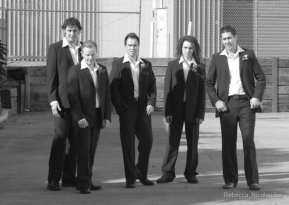 The men by Rebecca  Nicolandos