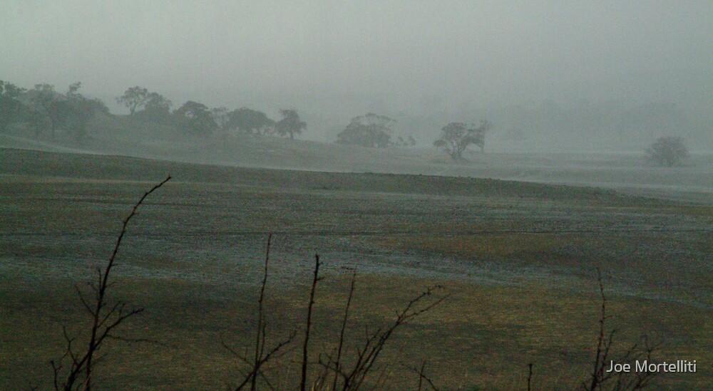 Rain Storm, Mt Anakie Brisbane Ranges by Joe Mortelliti