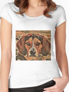 The Annoying Beagle Women's Fitted Scoop T-Shirt