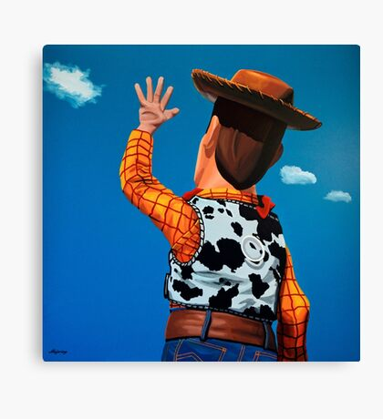 Woody of Toy Story Painting Canvas Print