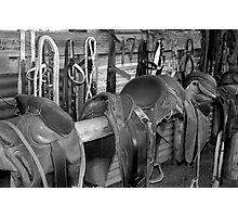 The Stock Saddles Photographic Print