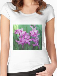 Hyacinth Blossoms Women's Fitted Scoop T-Shirt