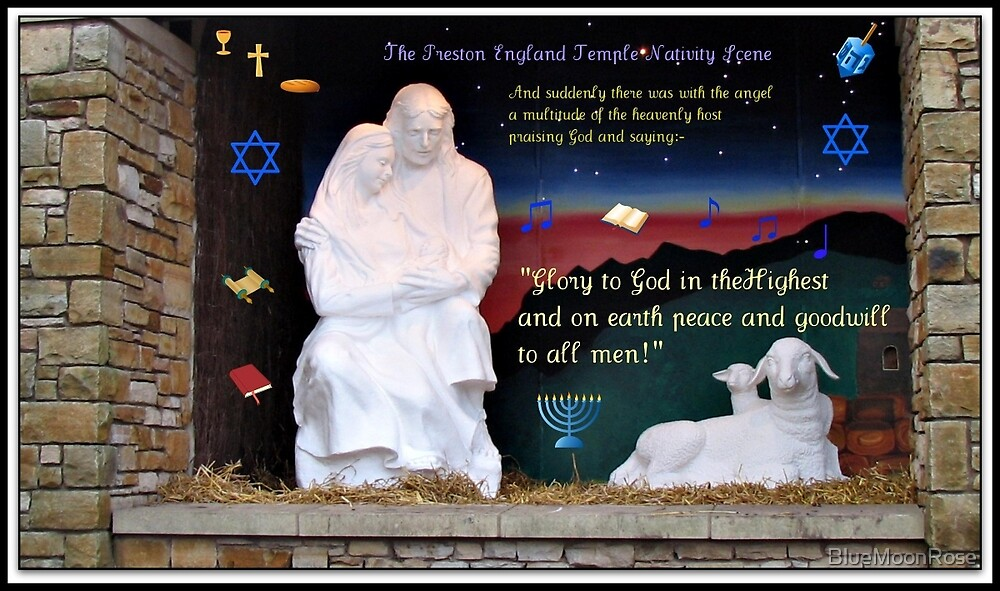 Holy Family Christmas Card by BlueMoonRose