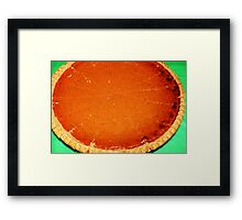 Homemade Pumpkin Pie Framed Print