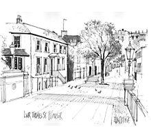 Windsor, England - pen and ink sketch Photographic Print