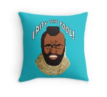 8-bit 80's - Mr. T Throw Pillow