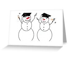 Graduation Day for Snowmen Greeting Card