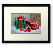 Elmo With Presents Framed Print