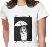 Raining in my parade  Womens Fitted T-Shirt