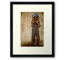 Baseball Boy I Framed Print
