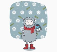 Cozy Winter Lamb Kids Clothes