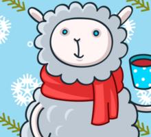 Cozy Winter Lamb Sticker
