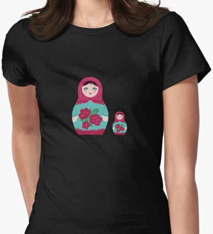 Matrioska doll Womens Fitted T-Shirt