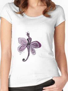 Pink Fairy Women's Fitted Scoop T-Shirt