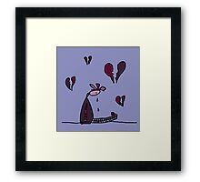 Silly Had Her Heart Broken. Love Was Not All Roses Framed Print