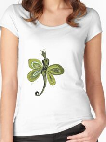 Yellow Fairy Women's Fitted Scoop T-Shirt