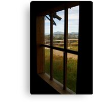 Window View Craig's Hut Canvas Print