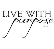 Alpha Gamma Delta - Live with Purpose Photographic Print