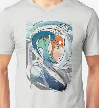 Space pilot girl futuristic comic concept art illustration Unisex T-Shirt