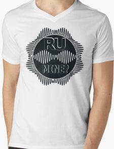 R U Mine? Blk/Blk/Blk Mens V-Neck T-Shirt