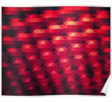 Abstract Color Pattern in Red Poster