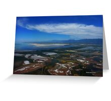 Flying over the Salt Flats of Utah Greeting Card